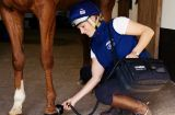 Zara Phillips treating horse with THOR LLLT